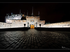 Edinburgh Castle at Night (David Hannah) Tags: door city castle robert tattoo night dark lights volcano scotland edinburgh military bruce royal william flags medieval capitol ramparts esplanade wallace nights walls moat cobbles fortress mid turrets mile braveheart longshanks lothian rampart welcomeuk