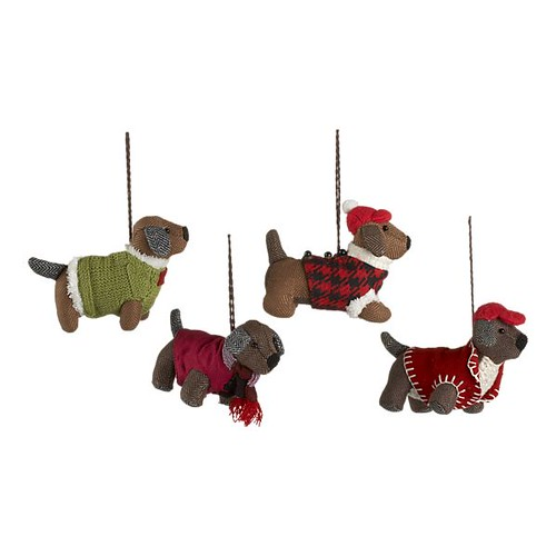 Herringbone Dog Ornaments