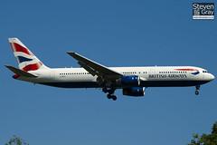 G-BZHA - 29230 - British Airways - Boeing 767-336ER - Heathrow - 100617 - Steven Gray - IMG_3919