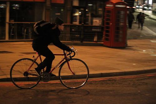 Cyclist & phone box