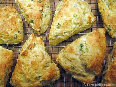 Easy Savory Cheese and Scallion Scones with Feta