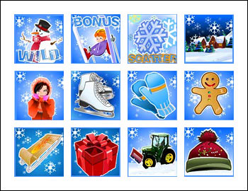 free Winter Wonderland slot game symbols