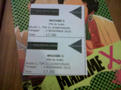madame-x tiket