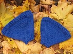 1195 bike helmet earwarmers (WoofBC) Tags: bike knitting dad helmet yarn earwarmers