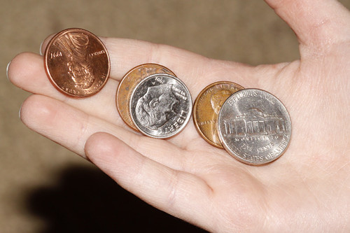pennies in hand photo