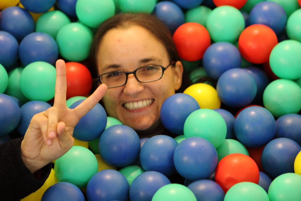 Me in the Google ball pit