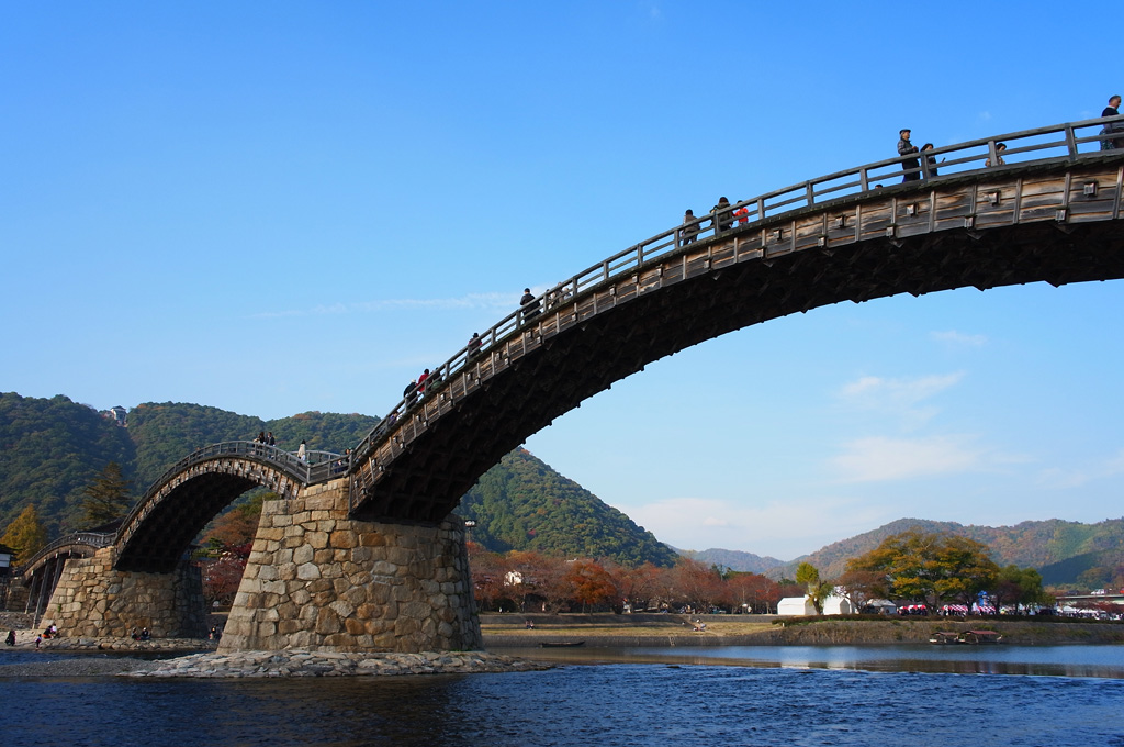 Kintai Bridge over the Nishiki River