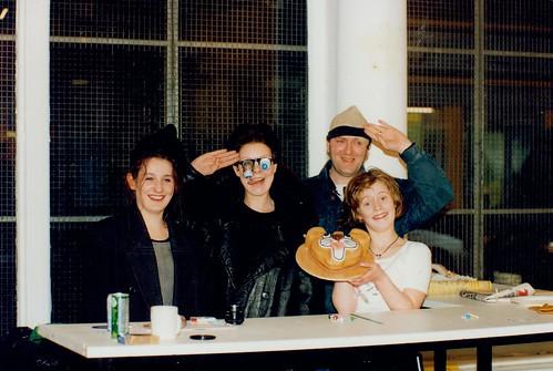 Heather McKenzie, Cath McNally, Hugh Devlin and Laura Graham 1990s