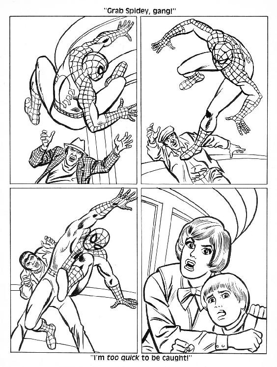 Spider-Man Unmasked! Coloring Book006