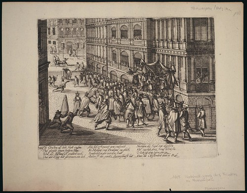 Verkundung des Waffenstillstands in Antwerpen (c 1609)
