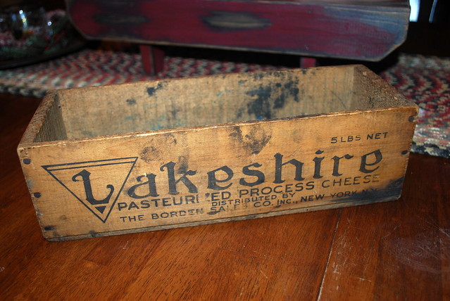 Antique finds cheese box