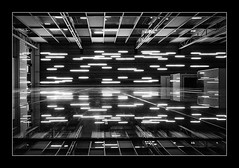 Across the Universe (night86mare) Tags: abstract monochrome up lights singapore interior central wide surreal monotone orchard kr bnw uwa 10mm