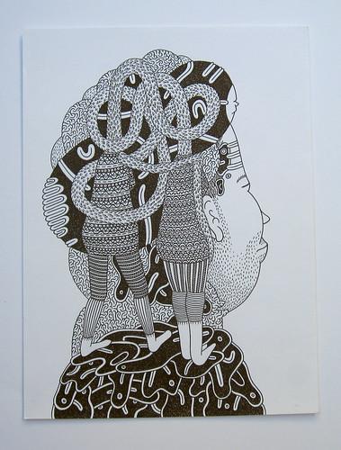 """Couple"" by Luke Ramsey original drawing"