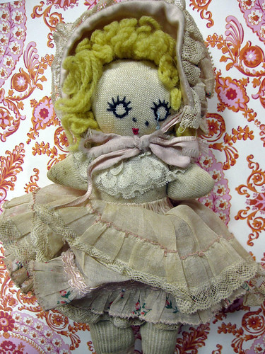 Miss Muffett, Up-Cycled Sock Doll! 3