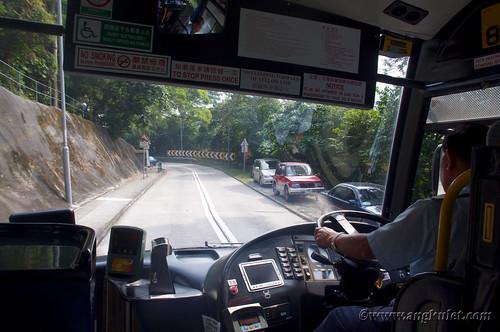 Going to Mui Wo by bus, Lantau Island, HK 2010