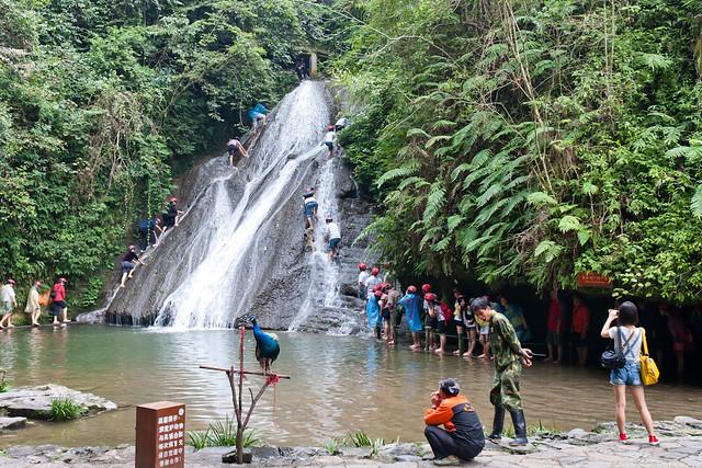 Waterfall-climbing