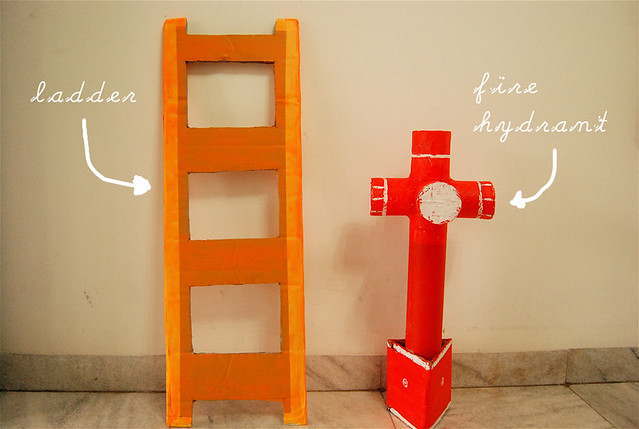 ladder & hydrant props
