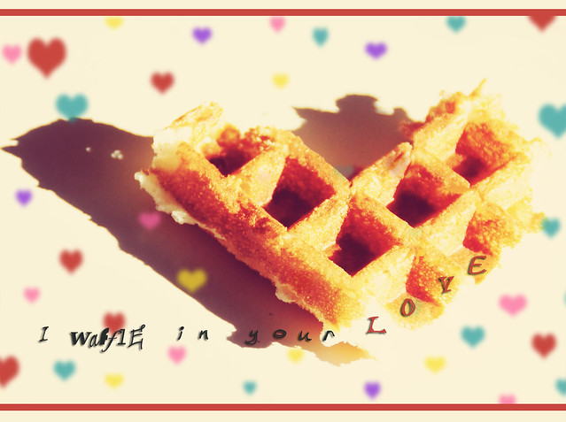 Happy valentines {waffle in your love}