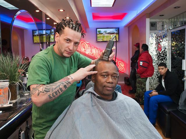 Dragos with customer: Williamsburg Brooklyn