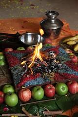 Sannyas initiation ceremony of Abhay Prabhu by H.H. Radhanath Swa