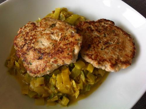 Salmon parsley patties