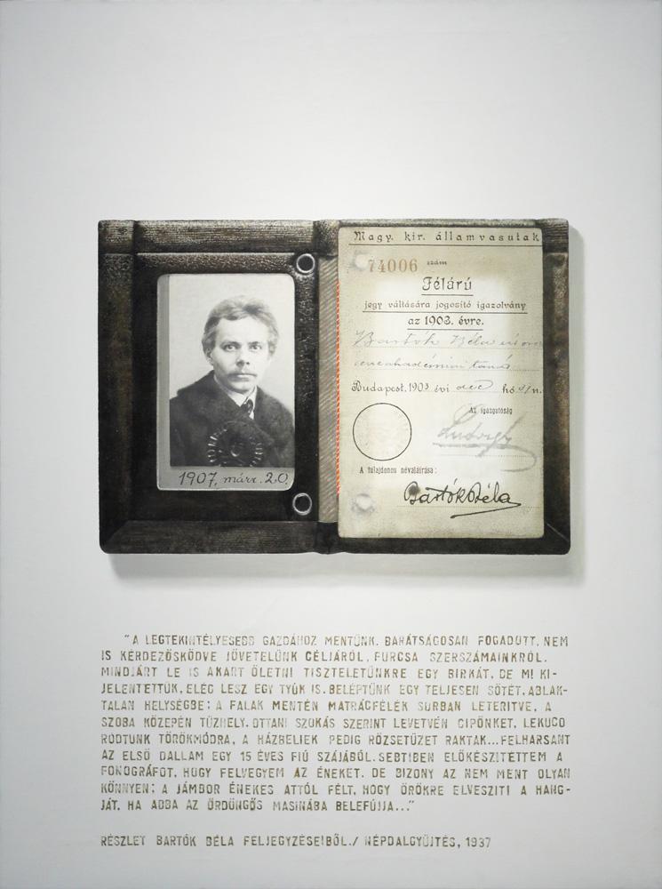 László Lakner, Béla Bartók's monthly pass, 1974
