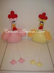 Galinhas (Criaes Arte com Arte) Tags: feltro galinhas