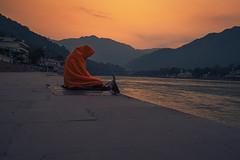 Sage by the Ganges (ShikharF8) Tags: shikharf8 shikharf8in shikharsharmaphotography shikharsharma xf18mmf2 fujifilm fujinon ganga rishikesh hindu hinduism meditation religion