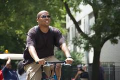 Bicyclists riding on Lafayette Street during Summer Streets. (jackszwergoldarchives) Tags: manhattan newyorkcity summerstreets szwergold