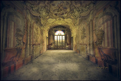 Opulence (Midnight - Digital) Tags: 2017 urbex ancient closed castle crusty canon exploration urbanexploration midnightdigital decay decaying dilapidated forgotten lost lostplace room old verlaten verlassen wrecked oblivion forsaken collapsed indoors architecture painting walls derelict derelicted oncewashome disused uninhabited empty disregarded deserted trespassing allabandoned abandon abandoned window