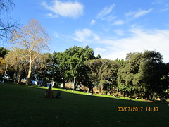 Winter Sunshine (RubyGoes) Tags: sydney nsw australia blue sky white clouds green trees grass lawn people