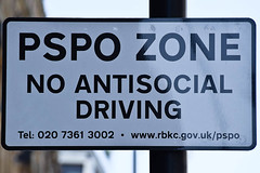 No Antisocial Driving (meg21210) Tags: sign noantisocialdriving london england uk knightsbridge greatbritain drivers warning safety driving law signage urban