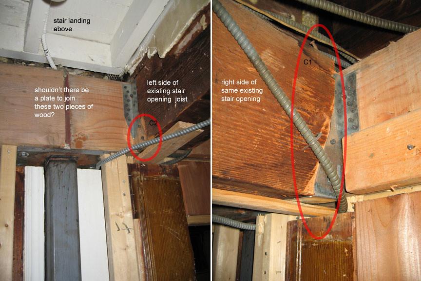 Shoddy Work Drywall Screws Used To Secure Joists