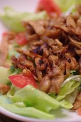豚肉のハバネロ味噌炒め生野菜添え