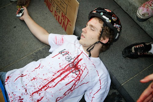Blood In protest, Photo by Gary Kavanagh