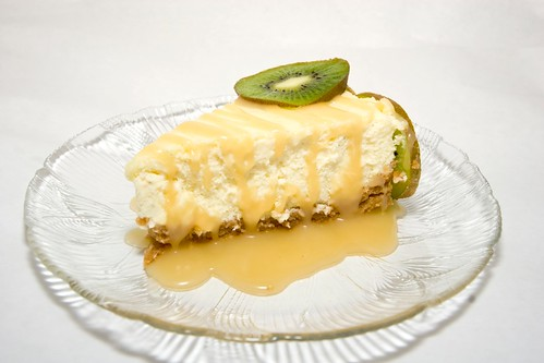 Vanilla Bean Mascarpone Cheesecake with Passion Fruit ...