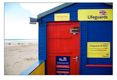 Watergate Bay Lifeguard Hut Detail (Mark-Crossfield) Tags: pictures uk greatbritain blue red sea england detail beach coast photo sand watergatebay cornwall waves image photos sandy picture wave lifeguard images safety hut beaches watergate sandybeach rnli bigwave lifeguardhut photosof picturesof nearnewquay imagesof watergatebayhotel markcrossfield watergatebayhut