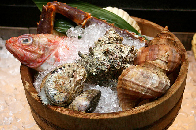 Bounty of the sea - Kinki fish, abalone, crab, whelks and conches