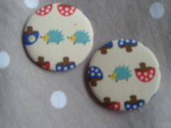 Hedgehogs (Lilies and Daisies) Tags: magnets badges compactmirrors