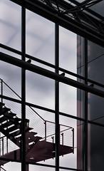 stairway (composingfun) Tags: stairway treppe architektur metall reflexion glas