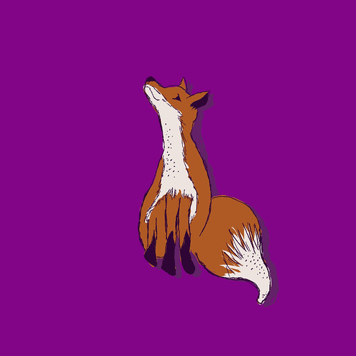 Fox on purple