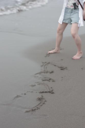 関谷浜にて