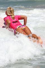 Rachel Barry (envisionpublicidad) Tags: sea woman france beach girl model women 10 surfer country surfing bikini longboard pro cote roxy jam asp basque biarritz lycra 2010 basques longboarder rachelbarry