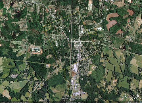 Chesnee, SC (via Google Earth)