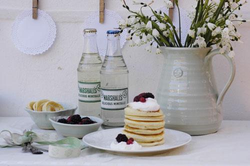 Summer berry pancakes