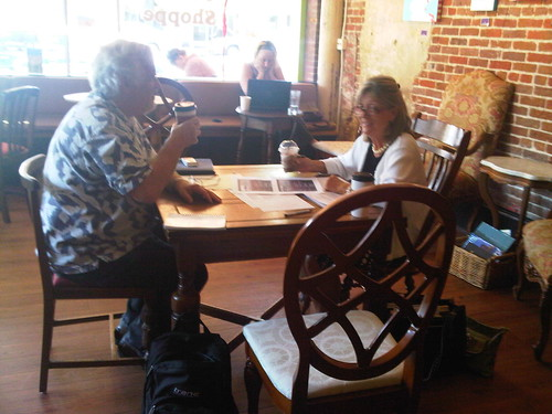 JASE Creative Team enjoying Creative Conversations in a Creative Coffee Shop