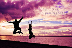 Happiness is the interval between periods of unhappiness~ (Pink Pixel Photography (f.k.a. Sunny)) Tags: pink sunset sea sky love silhouette fun sunny baltic tuesday remote powerful kiel laboe memyhoney happypinktuesday