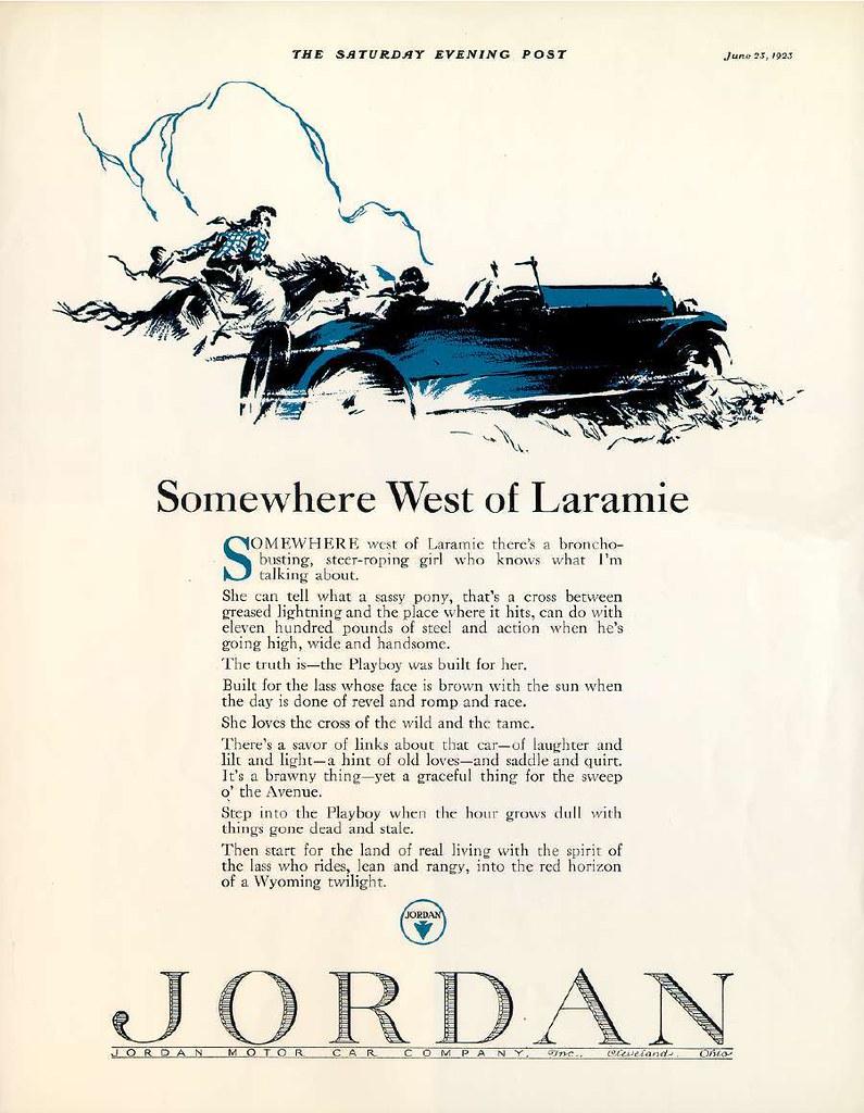 Somewhere west of Laramie ...