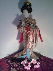 Cherry KANZASHI (choco_lada) Tags: flowers handmade sakura hairpin kanzashi decoclay