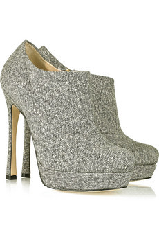 Gisele metallic-tweed ankle boots YSl